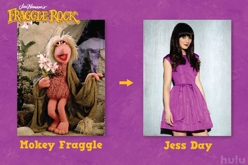 Jess Day is today's Mokey Fraggle