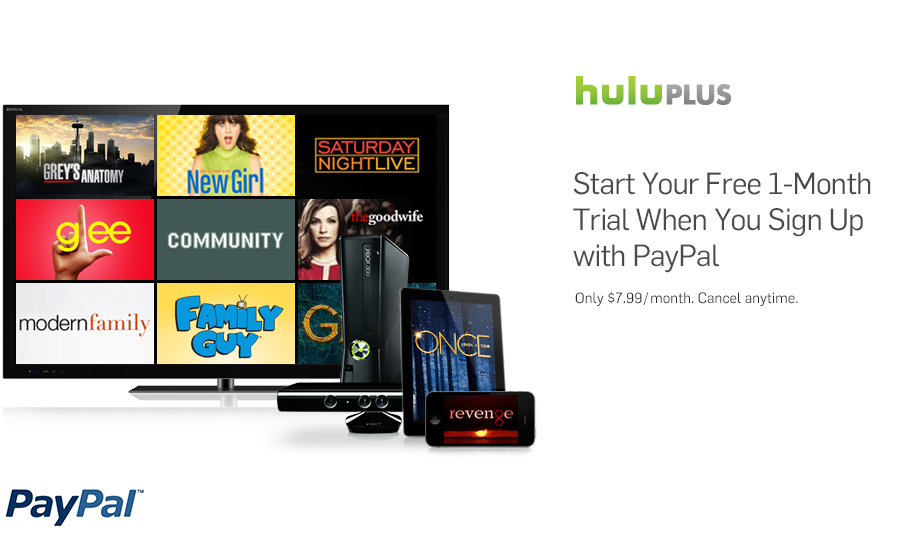 1 Month FREE Hulu Plus - Watch TV and movies via Xbox, PS3 ...