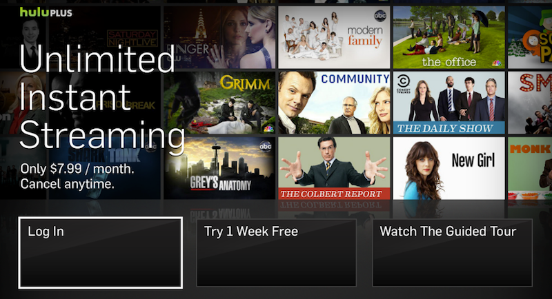 just internet tv services such as netflix hulu hulu plus