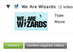 Hulu Remove Selected=