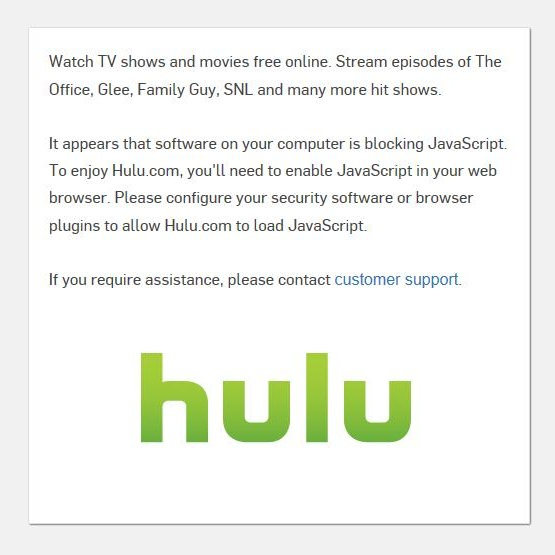 Hulu Blocked Plugin